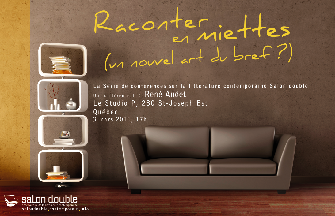 Raconter en miettes un nouvel art du bref conf rence for Salon audet